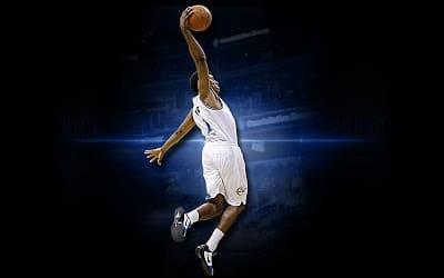 баскетбол прыжок с мячом