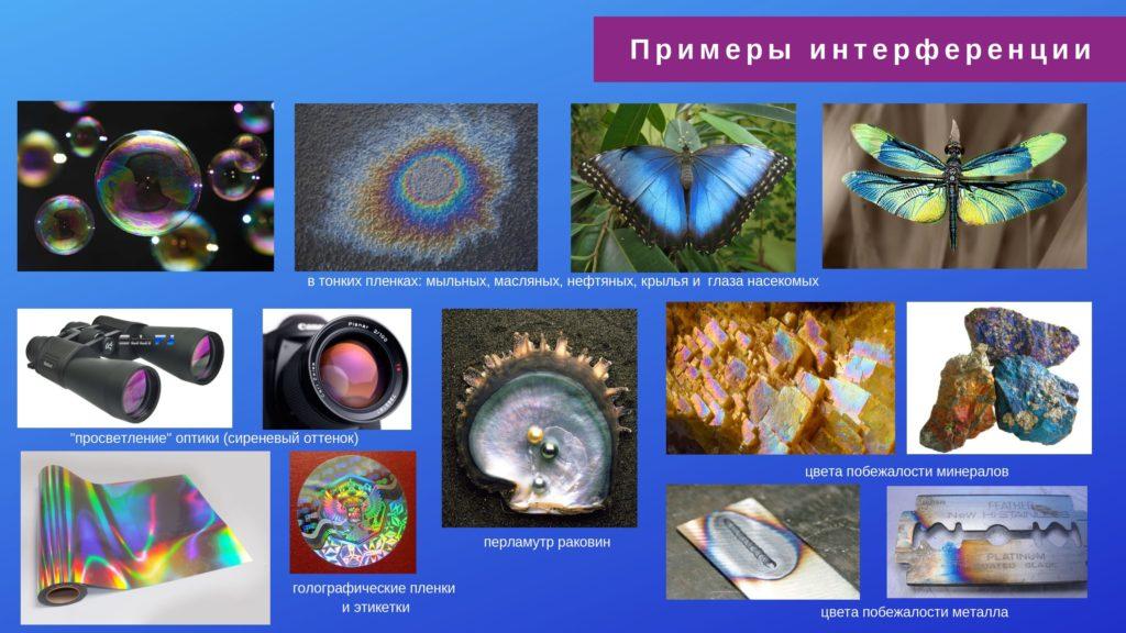 волновые свойства света. примеры интерференции