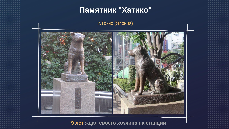 """Памятник """"Хатико"""" г. Токио (Япония)"""