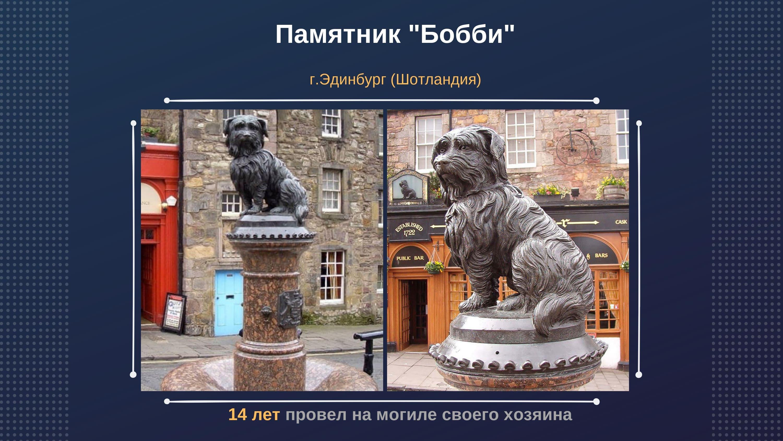 """Памятник """"Бобби"""" г. Эдинбург (Шотландия)"""