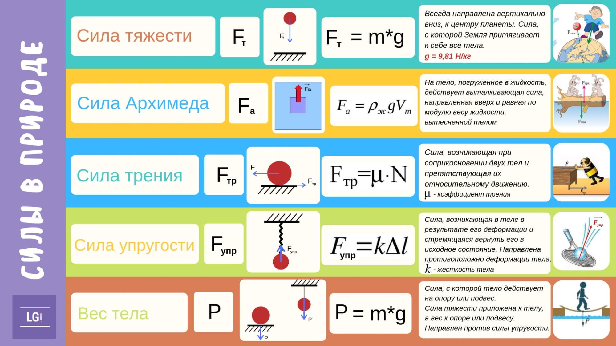 Готовимся к ВПР. Силы в природе. 7 класс. Физика