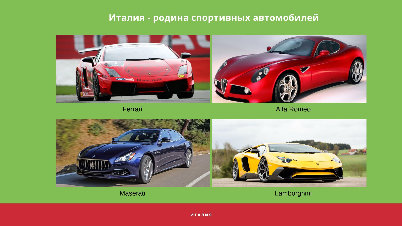 Италия - родина спортивных автомобилей
