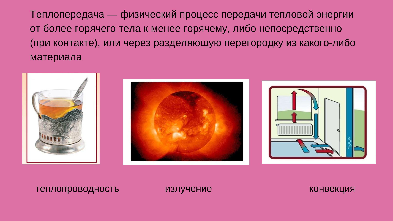 теплопередача - физический процесс