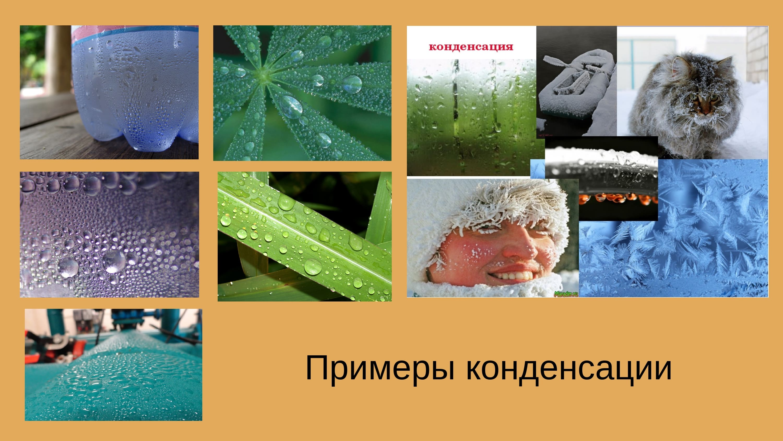 примеры конденсации