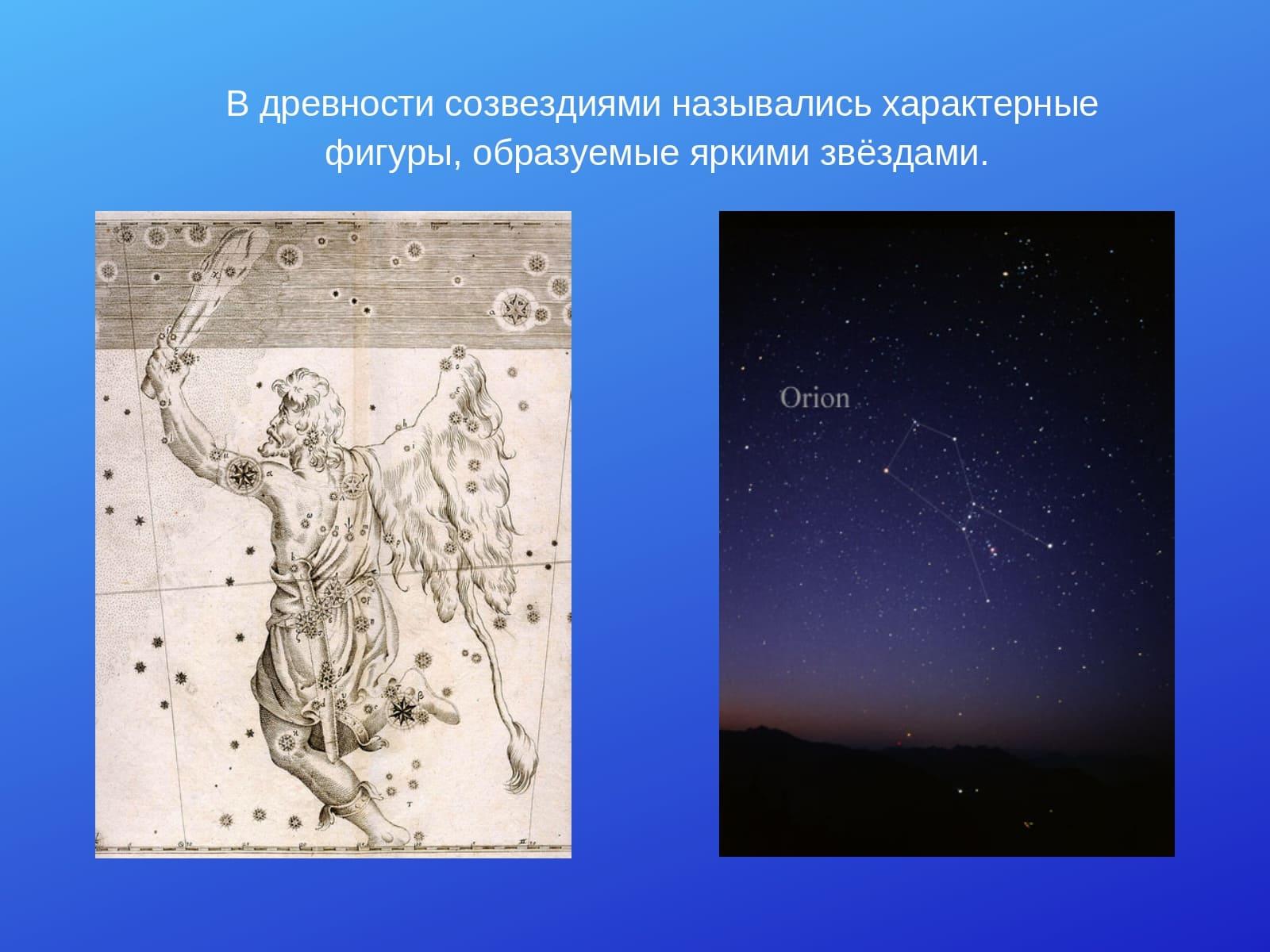 в древности созвездиями назывались