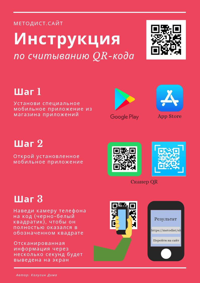 Инструкция по считыванию QR - кода