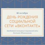 День рождения социальной сети «Вконтакте» 10 октября