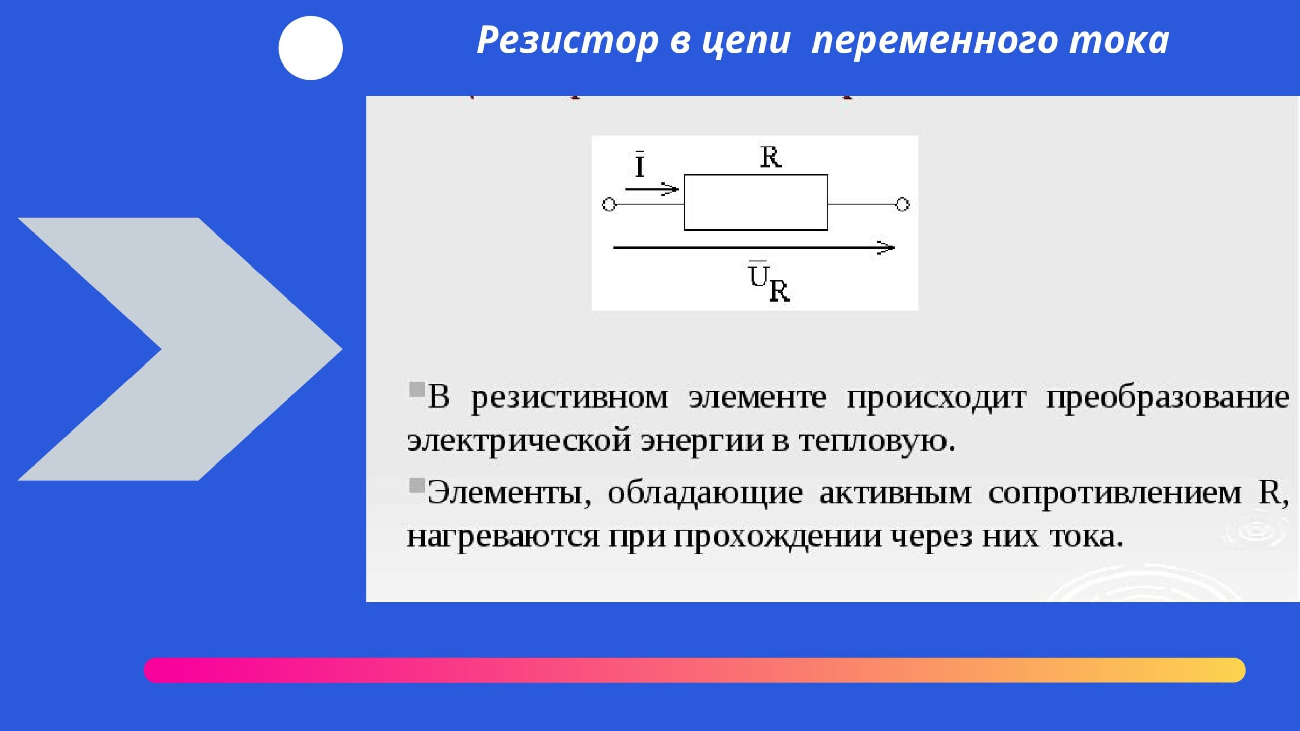 Резистор в цепи переменного тока