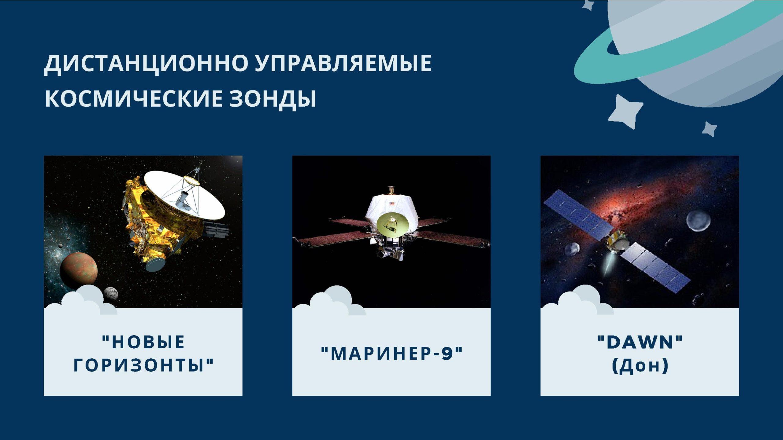 Дистанционно управляемые космические зонды