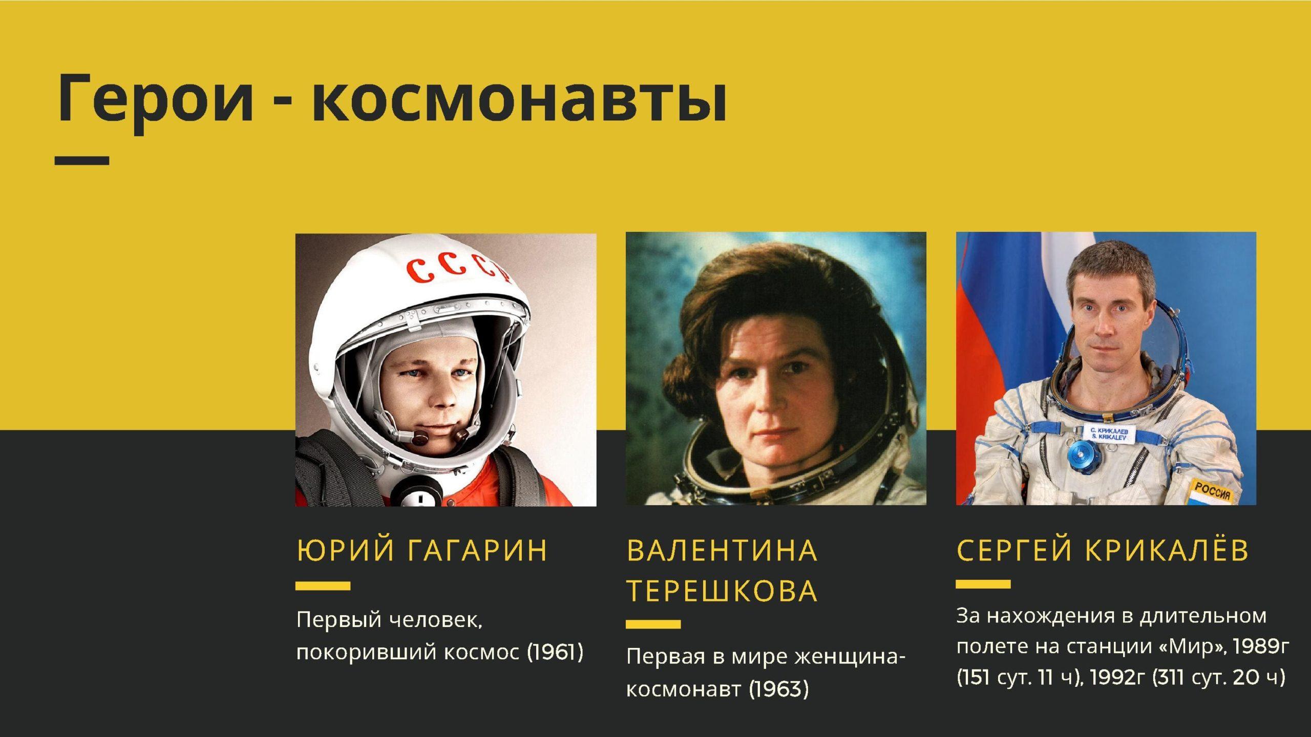 Герои - космонавты