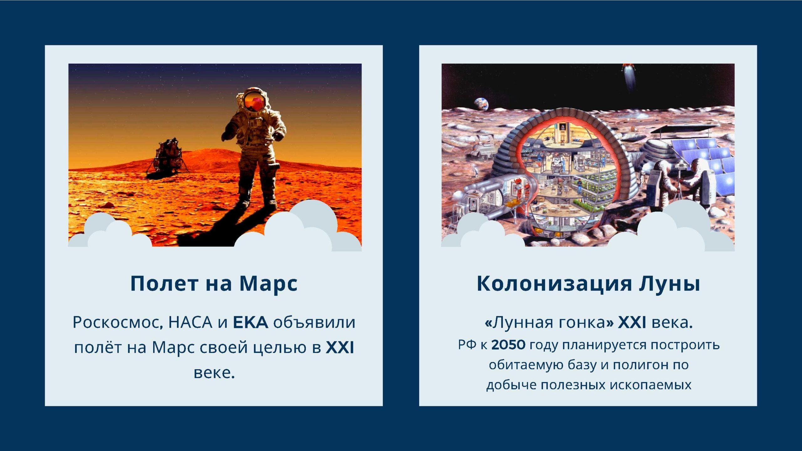 Полёт на Марс. Колонизация Луны