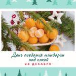 День поедания мандарин под ёлкой. 28 декабря