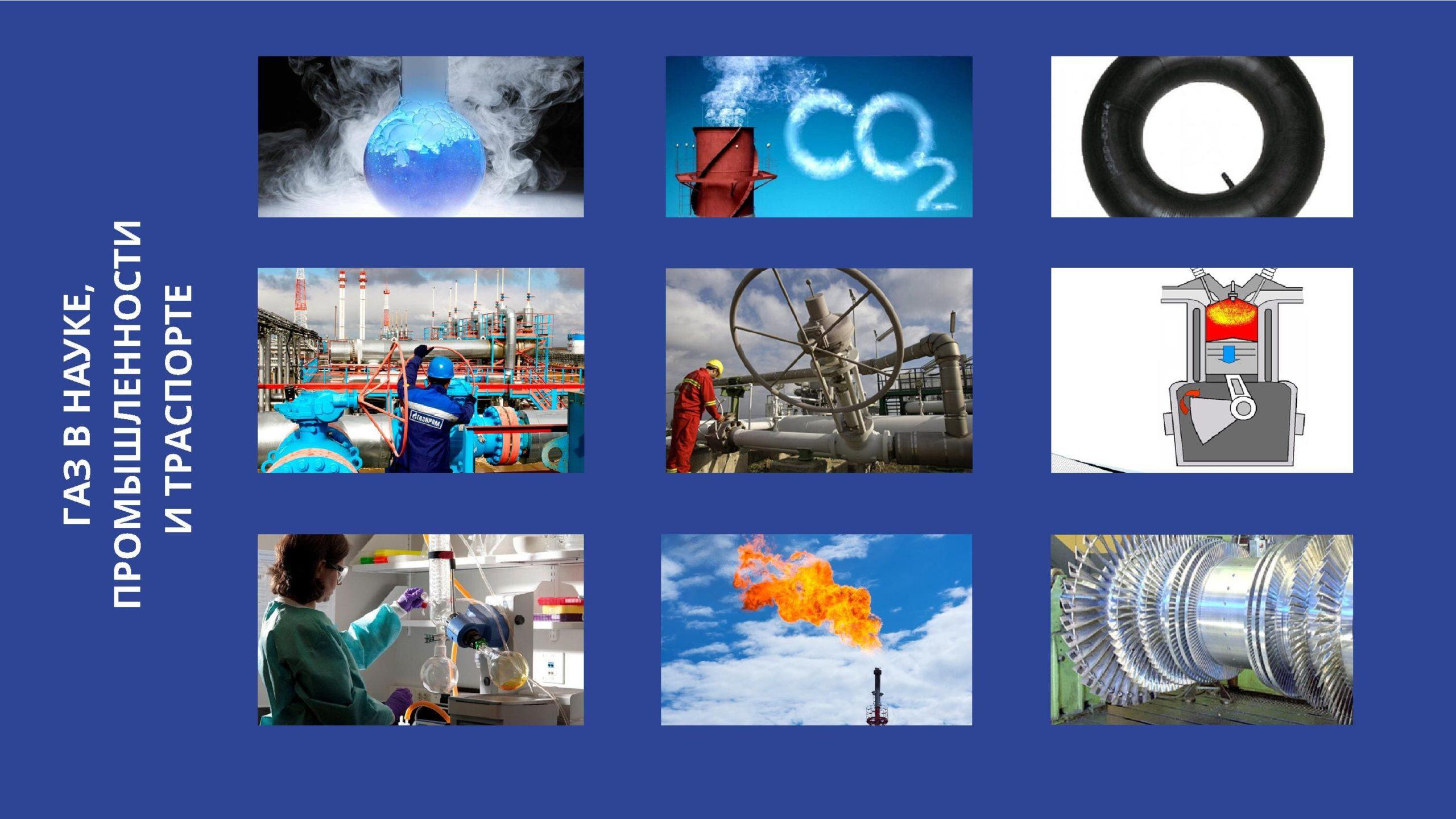 Газ в науке, промышленности и транспорте