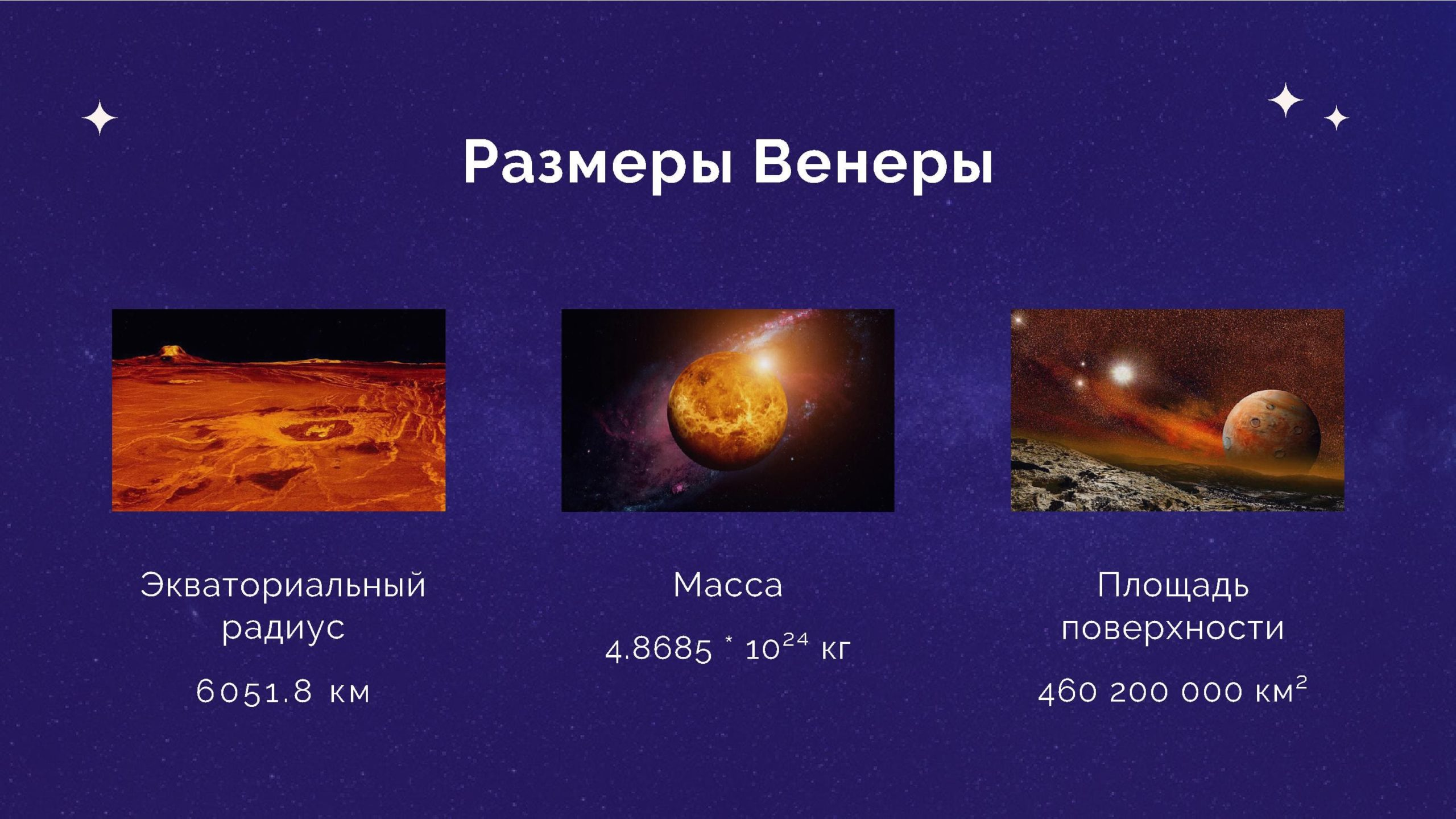 Размеры Венеры