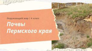 Почвы Пермского края. Окружающий мир 4 класс