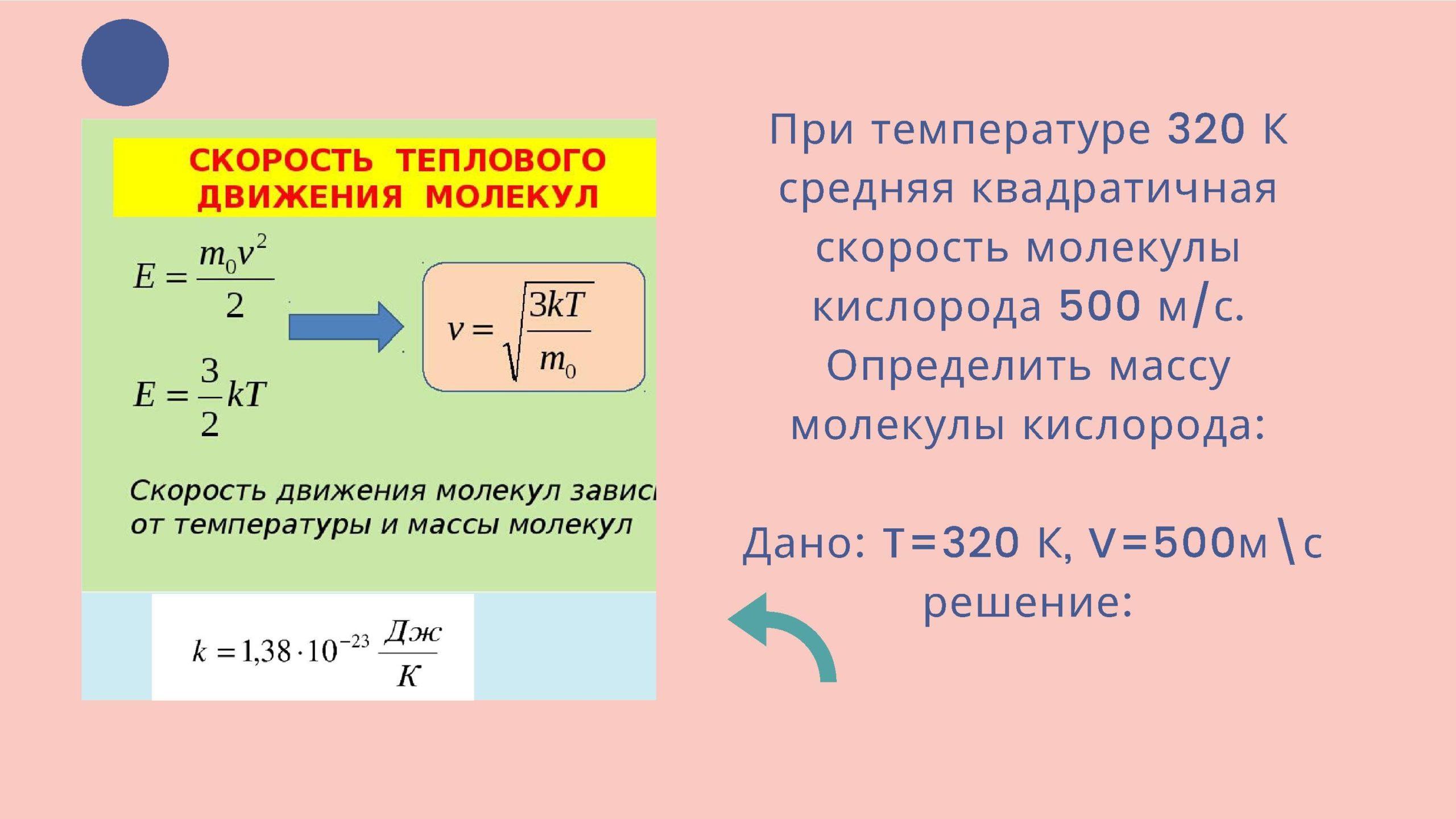 Скорость теплового движения молекул
