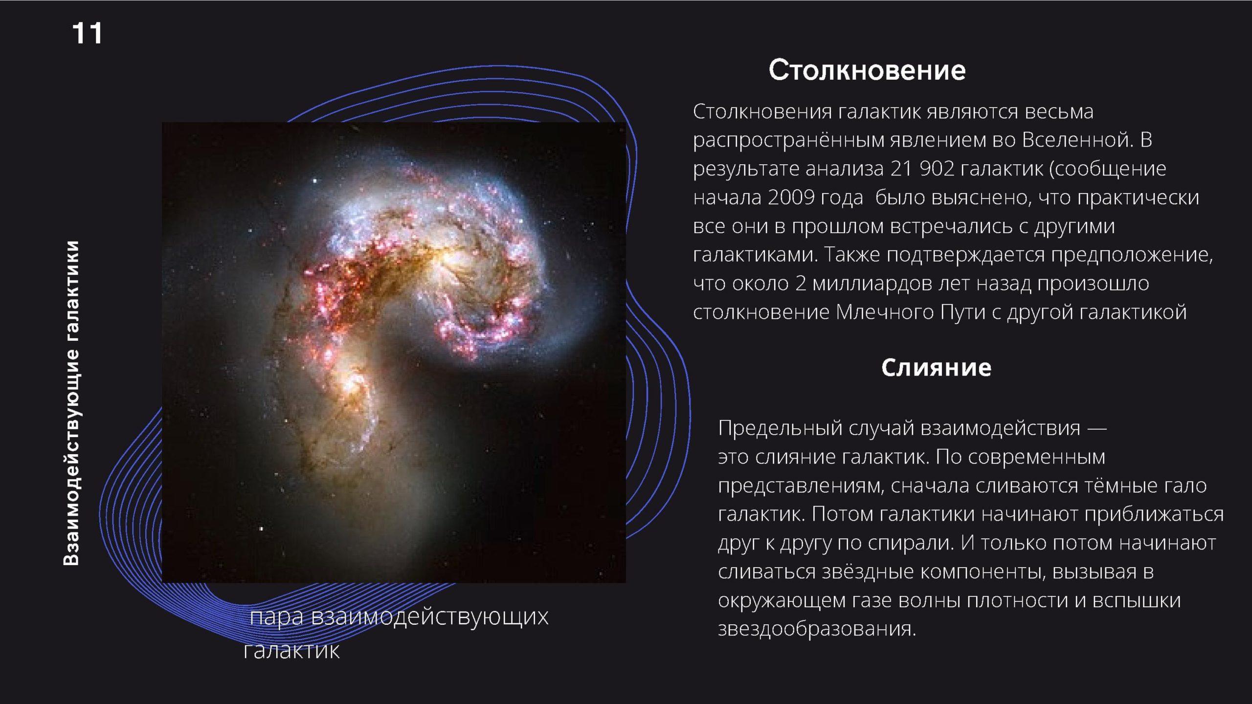Столкновение галактик. Слияние галактик