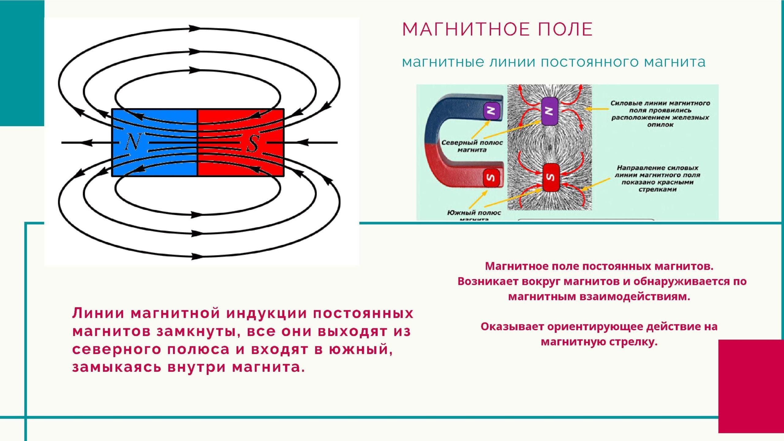 Магнитное поле. Магнитные линии постоянного магнита