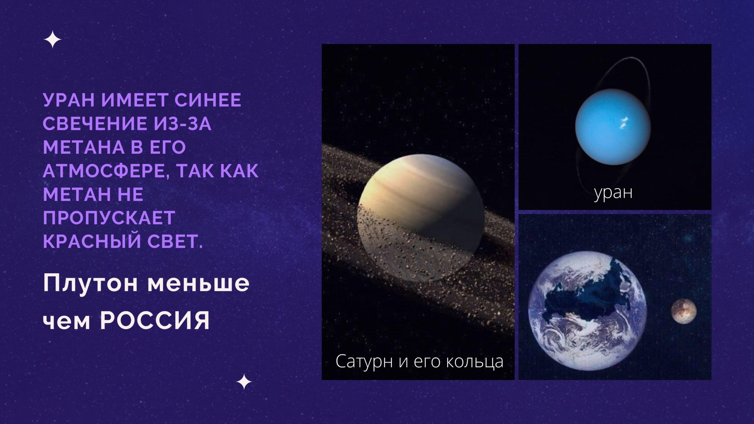 Плутон меньше чем Россия