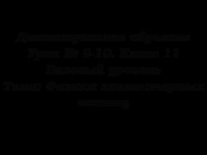 Дистанционное обучение. Урок № 9-10. Класс 11. Базовый уровень. Тема: Физика элементарных частиц