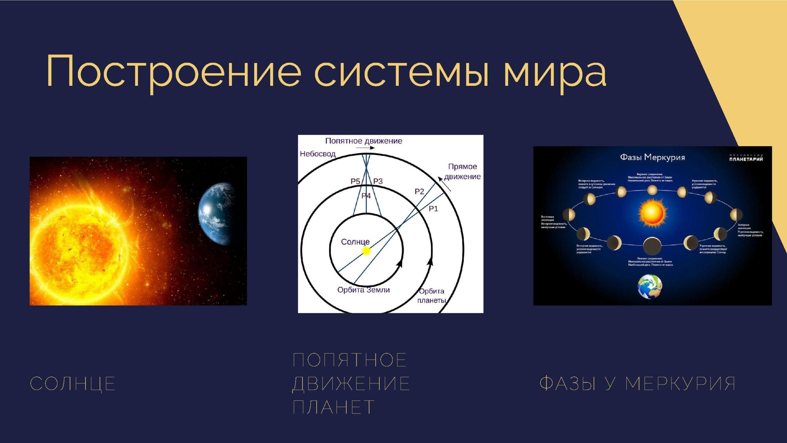 Построение системы мира