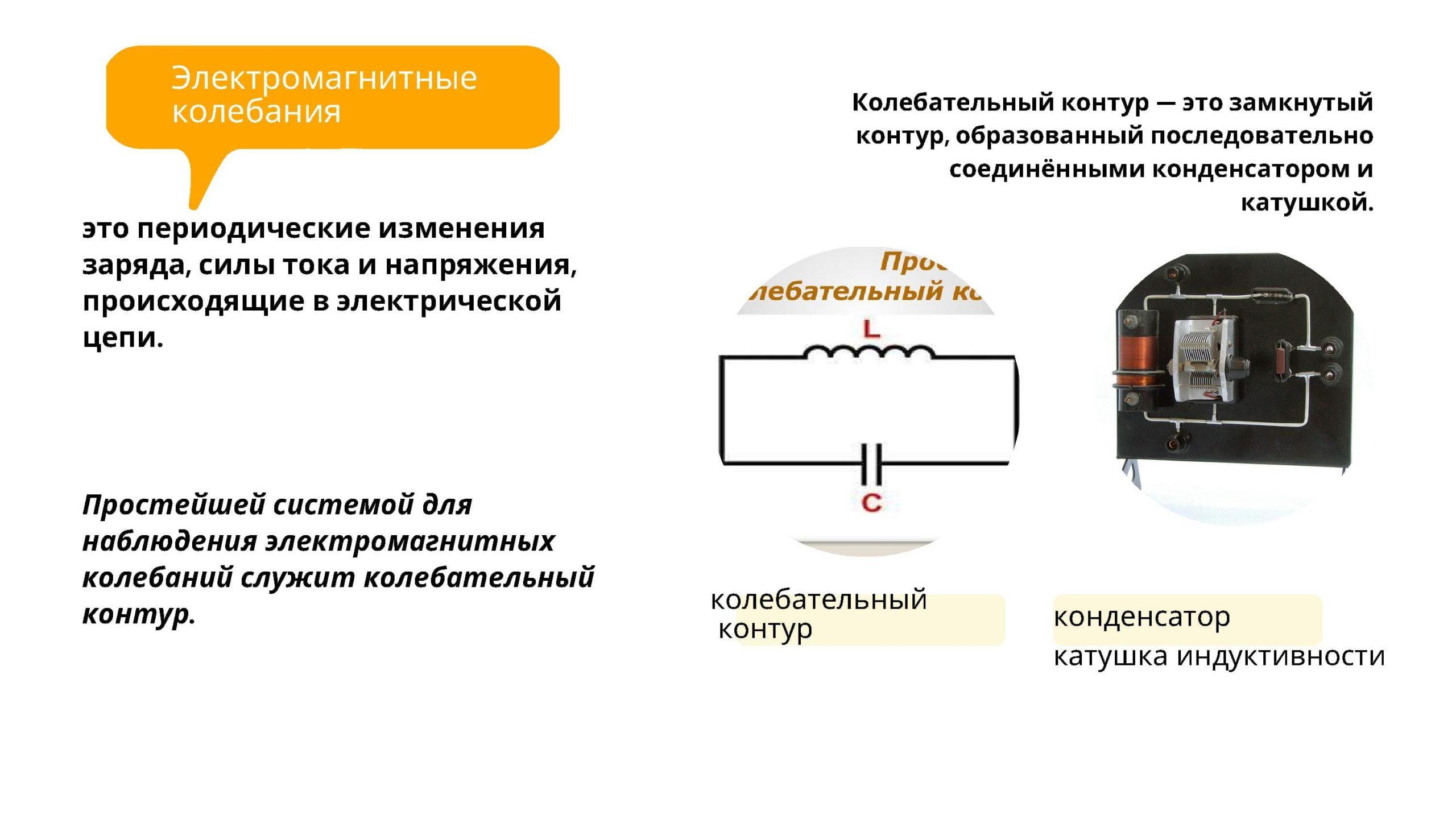 Электромагнитные колебания - это периодические изменения заряда