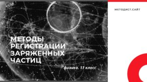 Методы регистрации заряженных частиц. Физика. 11 класс